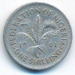 Нигерия, 1 шиллинг (1961 г.)