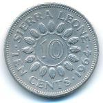 Сьерра-Леоне, 10 центов (1964 г.)