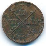 Швеция, 1/12 скиллинга (1802 г.)