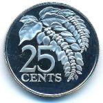 Тринидад и Тобаго, 25 центов (1974 г.)