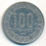 Конго, 100 франков (1985 г.)