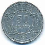 Белиз, 50 центов (2010 г.)