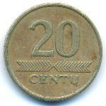Литва, 20 центов (1997 г.)