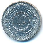 Антильские острова, 10 центов (2008 г.)