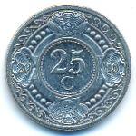 Антильские острова, 25 центов (2010 г.)