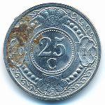 Антильские острова, 25 центов (2014 г.)