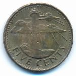 Барбадос, 5 центов (2008–2018 г.)