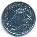 Барбадос, 25 центов (2009–2011 г.)