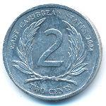 Восточные Карибы, 2 цента (2004–2011 г.)
