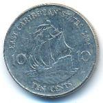 Восточные Карибы, 10 центов (2004–2007 г.)