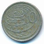 Каймановы острова, 10 центов (1990 г.)