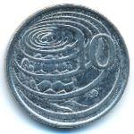 Каймановы острова, 10 центов (1996 г.)