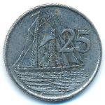 Каймановы острова, 25 центов (2002–2017 г.)