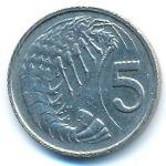 Каймановы острова, 5 центов (1990 г.)