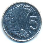 Каймановы острова, 5 центов (2008 г.)