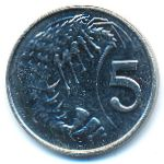 Каймановы острова, 5 центов (2013 г.)