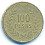 Колумбия, 100 песо (1992–1993 г.)