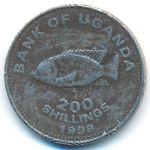 Уганда, 200 шиллингов (1998 г.)