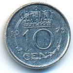 Нидерланды, 10 центов (1973 г.)