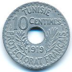 Тунис, 10 сентим (1919 г.)