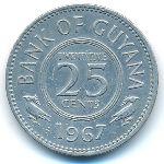 Гайана, 25 центов (1967 г.)