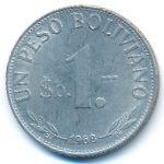 Боливия, 1 песо боливиано (1968 г.)