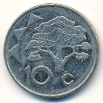 Намибия, 10 центов (2009 г.)