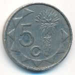 Намибия, 5 центов (2009 г.)
