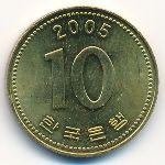 Южная Корея, 10 вон (2005 г.)