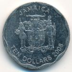 Ямайка, 10 долларов (2008 г.)