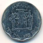 Ямайка, 10 долларов (2008–2017 г.)