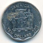 Ямайка, 10 долларов (2012 г.)