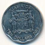 Ямайка, 10 долларов (2015 г.)