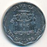 Ямайка, 10 долларов (2017 г.)