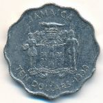 Ямайка, 10 долларов (1999–2005 г.)