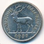 Маврикий, 1/2 рупии (1987–2016 г.)