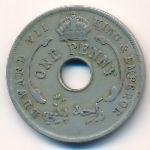 Британская Западная Африка, 1 пенни (1907 г.)