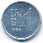 Южная Корея, 1 вон (1969 г.)