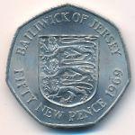 Джерси, 50 новых пенсов (1969 г.)