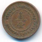 Стрейтс-Сетлментс, 1/4 цента (1916 г.)