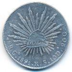 Мексика, 8 реалов (1891 г.)