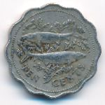 Багамские острова, 10 центов (1980 г.)
