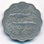 Багамские острова, 10 центов (1989–2005 г.)