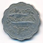 Багамские острова, 10 центов (2005 г.)