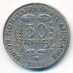 Западная Африка, 50 франков (2007 г.)