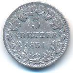 Бавария, 3 крейцера (1851 г.)