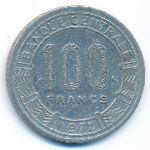 Габон, 100 франков (1972 г.)