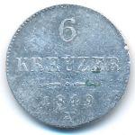 Австрия, 6 крейцеров (1849 г.)