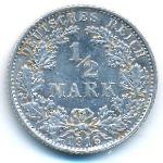 Германия, 1/2 марки (1916 г.)