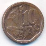 ЮАР, 10 центов (2018 г.)